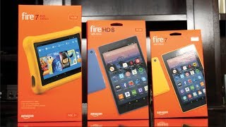 New Amazon Fire Tablets With Alexa (2017) Fire 7 vs Fire HD 8 vs Fire Kids Edition