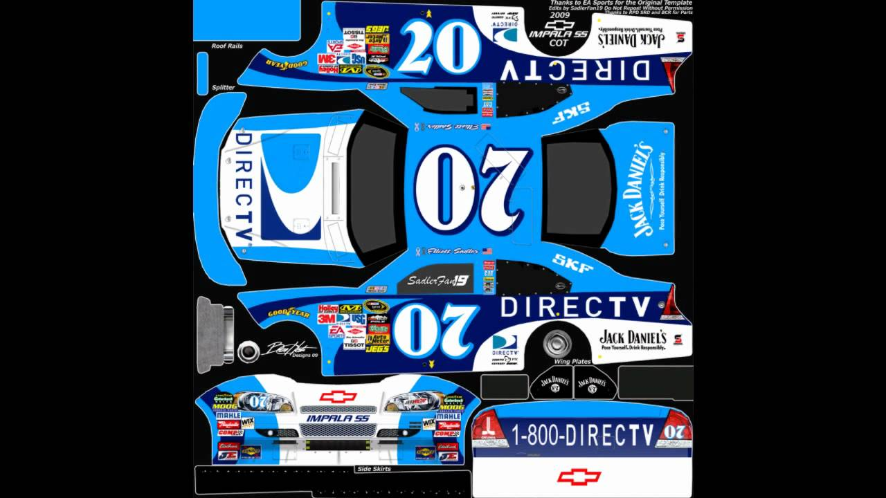 NASCAR 09 Templates from Midnight Racing - YouTube