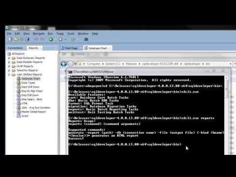 Generate HTML Report Using SQL Developer Command Line
