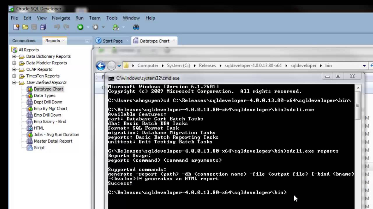 Generate HTML Report using SQL Developer Command Line - YouTube