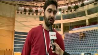 لقاء مع لاعبي المنتخب الوطني لكرة السلة بعد الفوز على المغرب والتتويج بالبطولة العربية للسلة