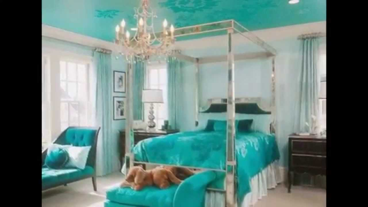 Teal bedroom by camacoeshn.org - YouTube