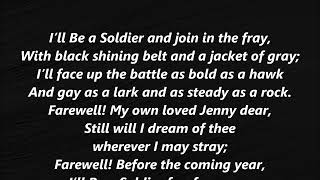 I'll Be a Soldier Stephen Foster LYRICS WORDS BEST Steven SING ALONG SONGS