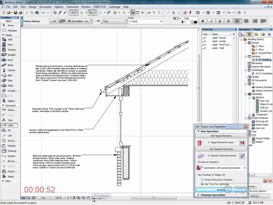 Archicad Detailing Eaves Detail Youtube
