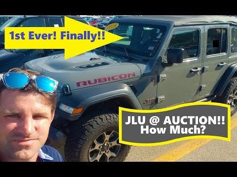 1st ever Jeep Wrangler JLU goes to Auction!