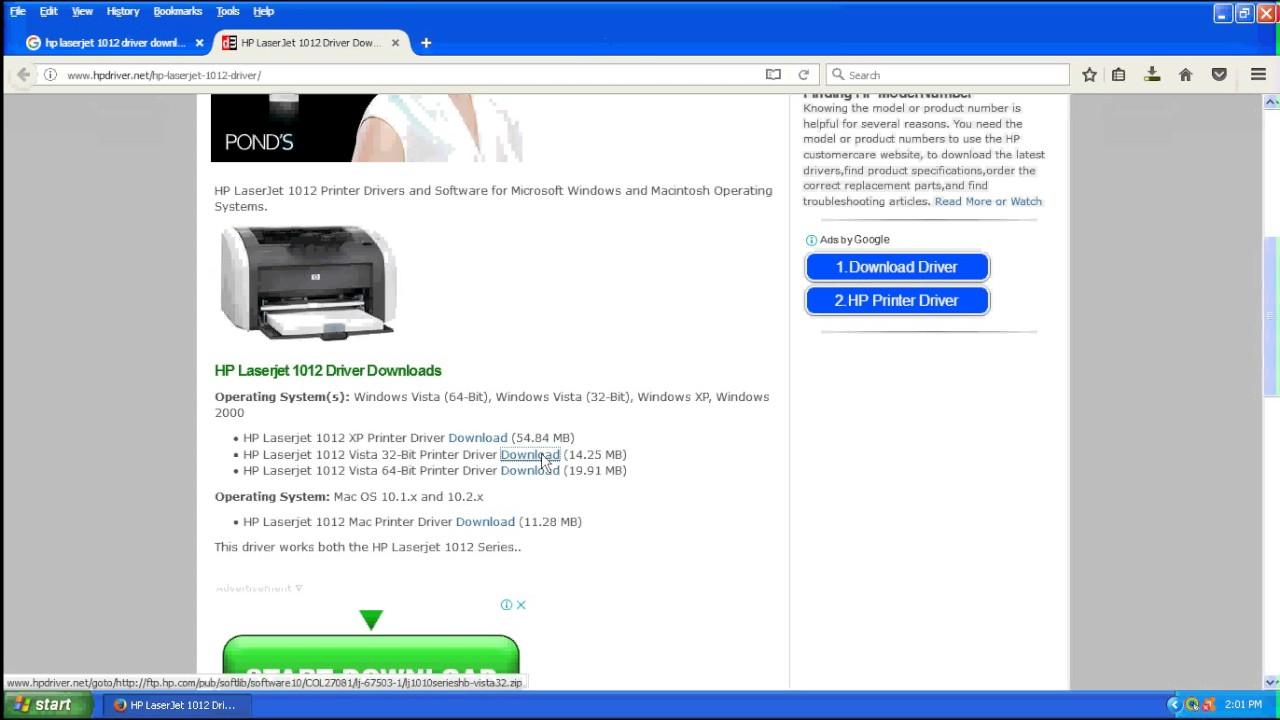Hp laserjet 1012 drivers for windows / mac (direct download).