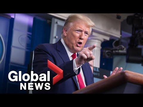 "Coronavirus outbreak: Trump offers ""best wishes"" to Boris Johnson, denies issues with testing   FULL"