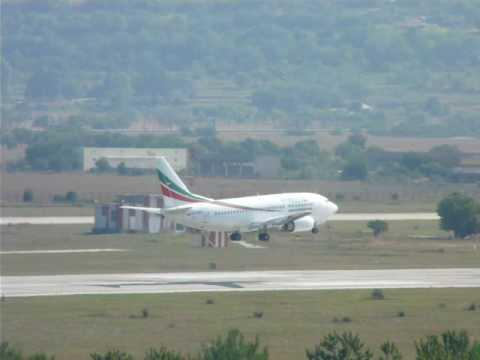 Tatarstan Airlines 737-500 Landing at Varna LBWN airport