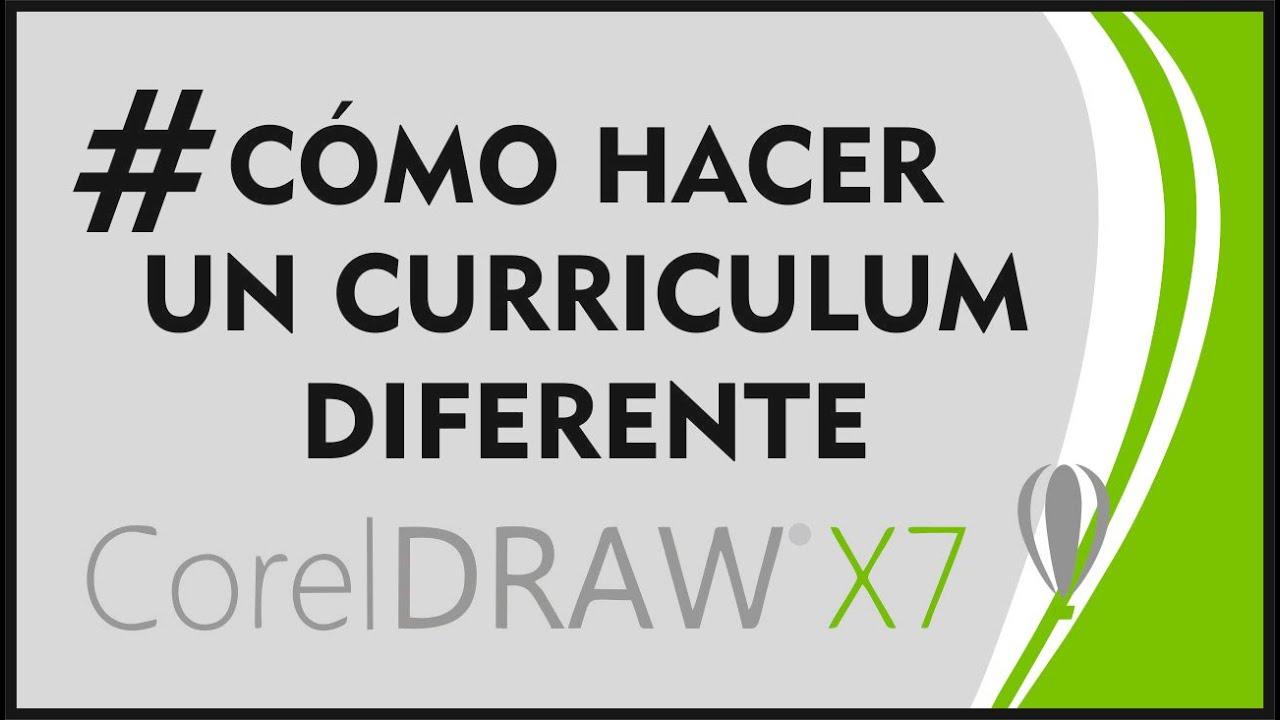 CorelDrawX7 - Cómo hacer un curriculum diferente + 4 EJEMPLOS - YouTube