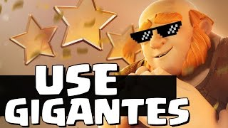 3 ESTRELAS COM GIGANTES ! - TORNEIO no Clash Of Clans (SEMIFINAL)