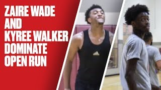 Zaire Wade and Kyree Walker Go OFF During Pickup - Full Highlights