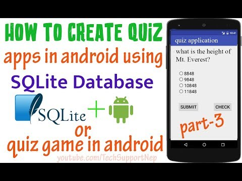 How to Create Quiz Apps in Android using SQLite Database? [Part-3] [With  Source Code]