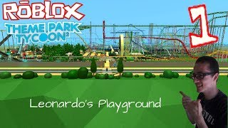 Roblox: Theme Park Tycoon 2 #1 - Leonardo's Playground (Meu Parque)