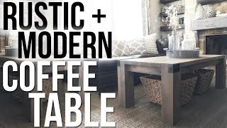Rustic + Modern Coffee Table Shanty2Chic
