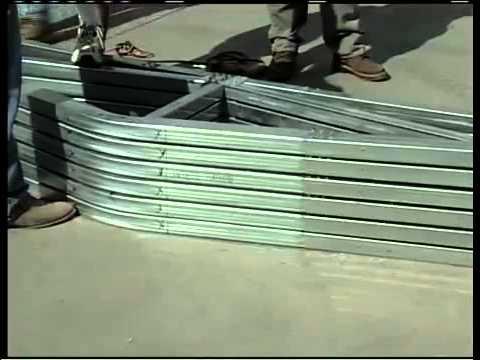 Metal Building Installation Step 5  Hat Channel Spacing