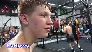 bfly ready to learn Spanish who wants to teach him EsNews Boxing