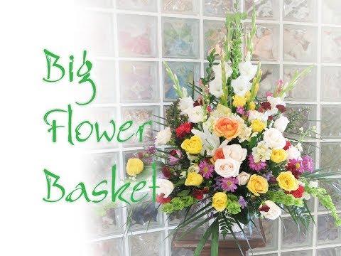 How to create big basket arrangements for tribute sympathy or how to create big basket arrangements for tribute sympathy or grand opening youtube solutioingenieria Gallery