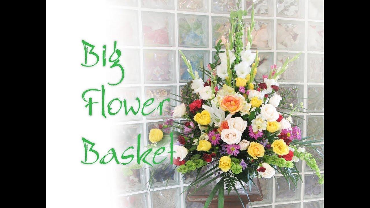 How to create big basket arrangements for tribute sympathy or grand how to create big basket arrangements for tribute sympathy or grand opening izmirmasajfo Choice Image