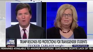 Ignorant  Fat Transgender Woman OWNED By Tucker Carlson