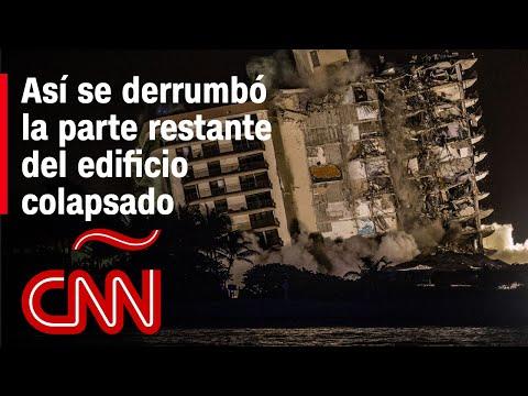 """""""Reinó el polvo y el silencio"""" tras la demolición de edificio colapsado en Miami"""