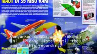 asli rekaman black box adam air flight 574