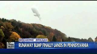 How did military blimp break loose?