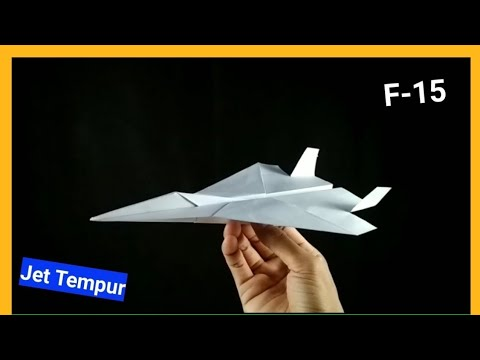 halo kawan2, kali ini saya akan membuat sebuah pesawat jet TEMPUR dari kertas secara sederhana, langsung saja simak....