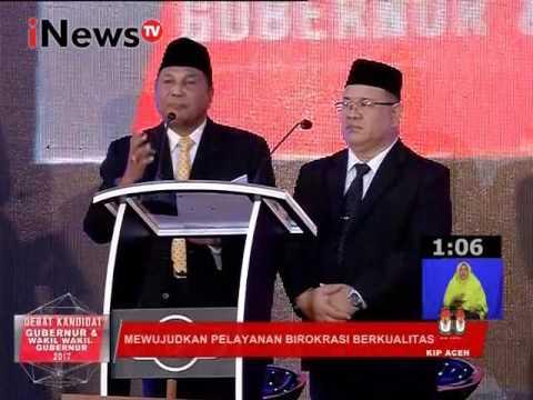 Debat Pilkada Aceh 2017 : Mewujudkan Pelayanan Birokrasi Berkualitas Part 01 - INews TV 31/01