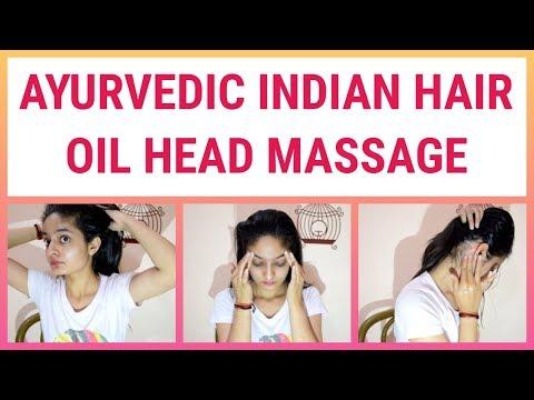 AYURVEDIC INDIAN HAIR OIL MASSAGE / PRESSURE POINTS MASSAGE / AYURVEDIC HEAD MASSAGE TECHNIQUES