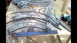 Scrap Metal Garden Hose Caddy  01