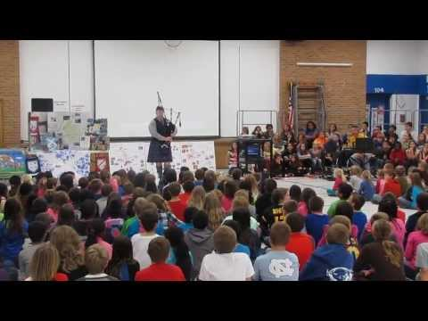 Dundee Highlands Elementary School 50th Anniversary (Steve LaRue on bagpipes)