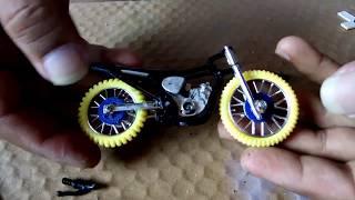Merubah motor tril menjadi motor drag. Miniatur drag part 2