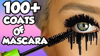 HOW MANY COATS ARE IN ONE MASCARA TUBE?! LETS FIND OUT! EP1 *NEW SERIES* 100+ coats! | NICOLE SKYES thumbnail