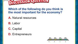 Chapter 19 1 Lesson Economic Resources