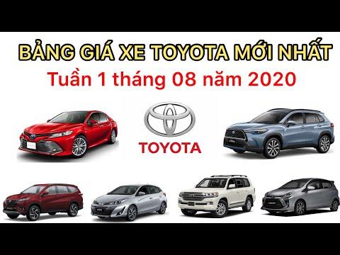 Bảng giá xe Toyota tuần 1 tháng 8/2020 | Cập nhật khuyến mại mới nhất từng sản phẩm