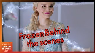 Samantha Barks shows West End Frozen The Musical costumes and set design