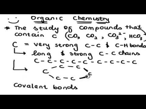 Tutorial 1 - Introduction to  Organic Chemistry 1