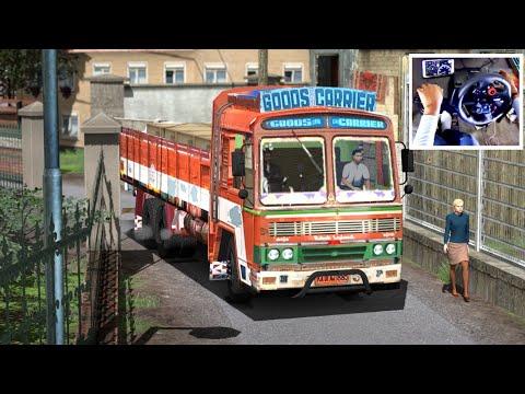 Indian Truck Driving | Taking Goods To Lockdown Village Area | Ashok Leyland
