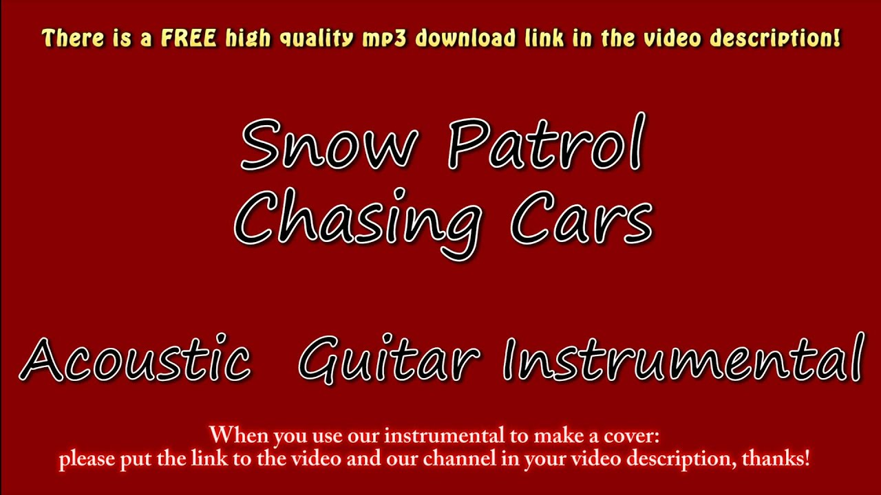 """Chasing cars"""" snow patrol acoustic cover with free mp3 download."""