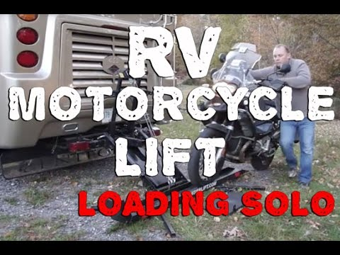 RV Motorcycle Lift Loading Tips