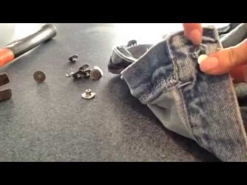 Replace a Jean Button- No Sew Jean Button - Easy