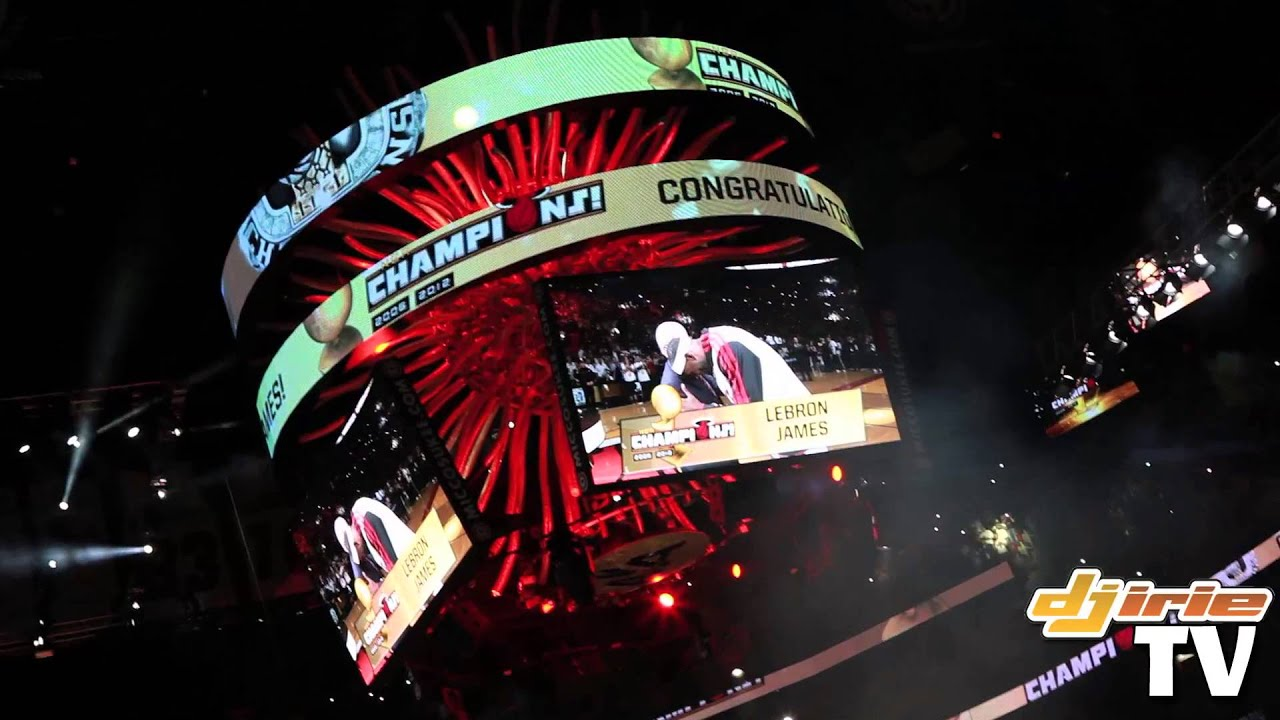 Lebron James Gets His First NBA Championship Ring At Miami Heat Opening Day Ceremony