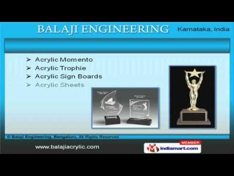 Acrylic Product By Balaji Engineering, Bengaluru, Bengaluru