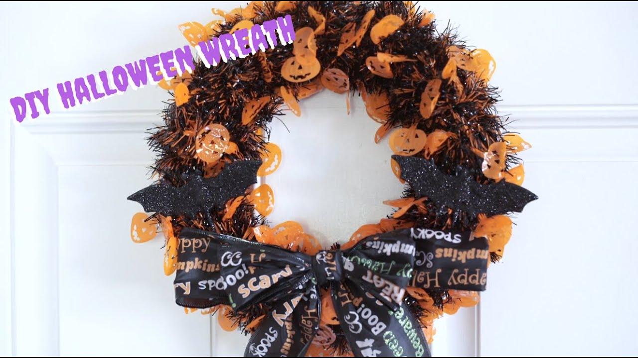 Diy halloween wreath - Diy Dollar Tree Halloween Wreath