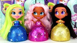 DIY Play Doh Glitter Dresses for Dolls | Hairdorables Opening and Creative Play Doh for Girls