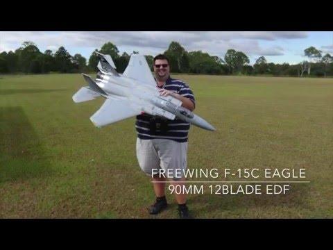 Maiden Flight Of My Freewing F-15C Eagle Super Scale 90mm EDF Jet