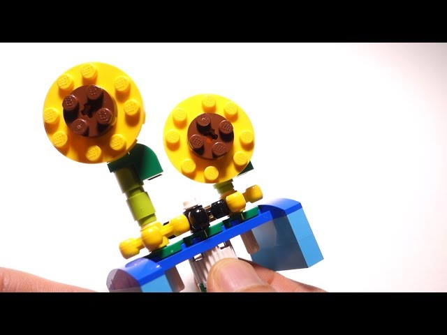How to Build  LEGO Rotating FLOWERS with Fun Functions  ( Parts from 10712 ) - Building Instructions