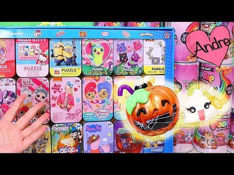 Abriendo Poopsie Slime y rompecabezas | Jugando muñecas y juguetes con Andre para niñas y niños
