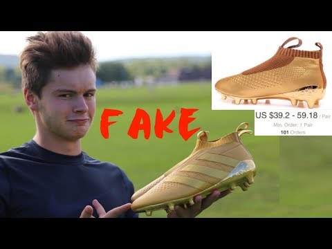 Testing out FAKE DHgate Ace 16+ Soccer Cleats