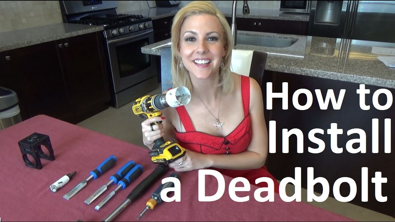 How To Install A Deadbolt Lock On A Door Or Steel Door